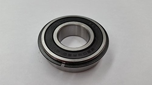 6205-2RS-NR, 25mm x 52mm x 15mm, two double lip seals, snap ring