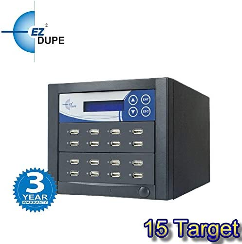 EZ DUPE Flash Drive Duplicator 15 Target Xtreme Copier Sanitizer Clone Eraser