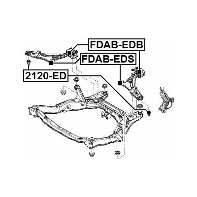 Ball Joint Front Lower Arm Febest 2120-ED OEM L206-34-35ZB: Automotive