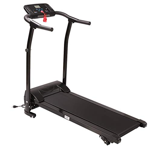 Samury Folding Treadmill Mute Electric Motorized Running Machine with Device Holder - 12 Preset Workout Programs with 10Mph Max Speed - Absorption and Incline(US Shipping)