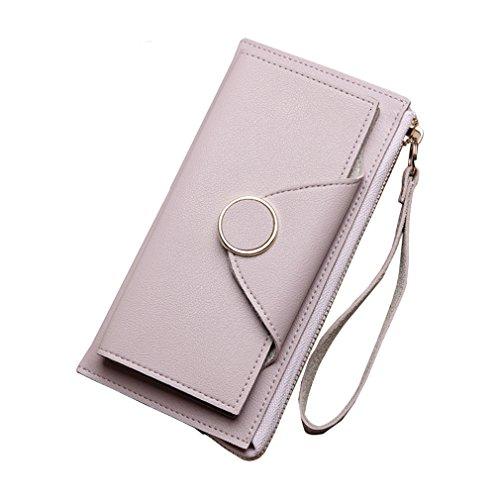 D'embrayage Cash Purple Wristlet Monnaie Monnaie Carte Femmes Portefeuille Mode Téléphone Femelle Porte Purse Longue Haoling En Cuir Zipper Pince à x7aHYcO