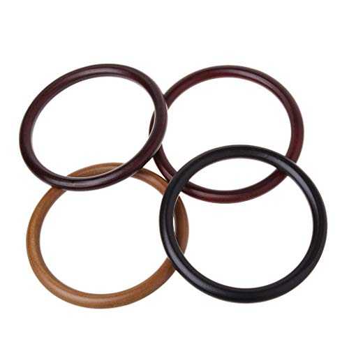Fai Simplelife Bamboo marrone Handbag naturale da te 14x14cm scuro Handle Handmade S4SqxwpA