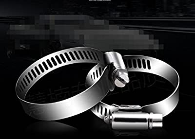 YunShuo 20pack 304 Stainless Steel Hose Clamp Clip Fuel Petrol Air Hose Pipe 12mm Width