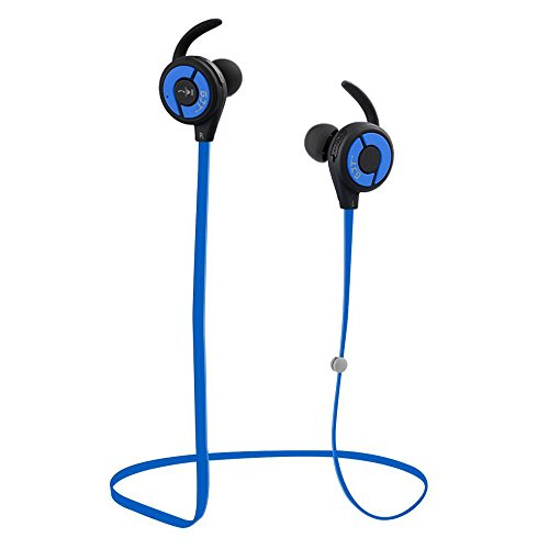 GJT Bluetooth Headphones, E10 V4.1 Wireless Sports Earphones with Mic Bluetooth Headsets Lightweight Sweatproof in Ear Noise Cancelling Earbuds Secure Fit for Gym&Sports (Blue)