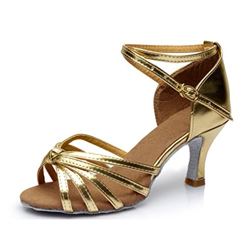 Sandals Salsa Chacha Lady Kitten Women's Heels Ballroom Latin Gold Newday Shoes Heaven Dance Heels Stain nqOZnYwa