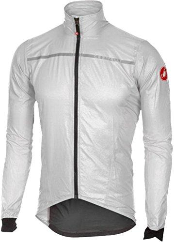 Technical Mens Jackets Cycling (Castelli Superleggera Jacket - Men's White, L)