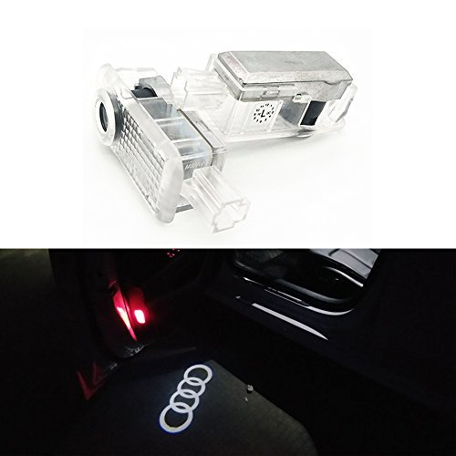 BAILONGJU 2PC Car Door LED Lighting Entry Ghost Shadow Projector Welcome Lamp Logo Light compatible with Audi Series