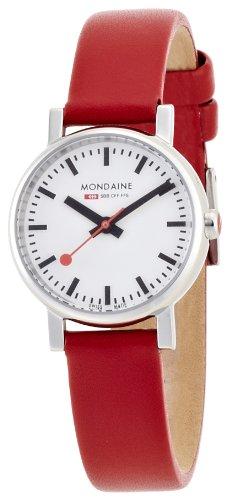 Mondaine Women's A658.30301.11SBC Quartz Evo Leather Band Watch (Evo Swiss)