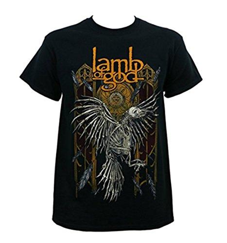 LAMB OF GOD Band Crow Skeleton Black T-Shirt M ()