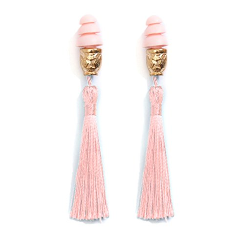 Breakfast at Tiffany's Technicolor Tassel Earplugs, dusty rose (w/o gift box)