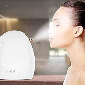 OLAXER Facial Steamer Nano Ionic Professional Face Steamer Sprayer with Aromatherapy Basket, Adjustable Nozzle, Hot & Cool Mist Moisturizing Humidifier Home Sauna, 180ML Water Tank