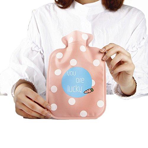M-Egal Handwarmer Pocket Classic Rubber Cute Hot Water Bottle Water Bag Cartoon Pink carrot