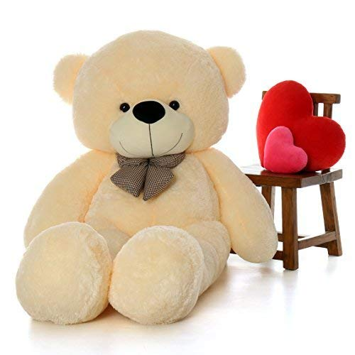 jesper branded teddy bear valentines day   3 feet  91 cm, cream   Multi color