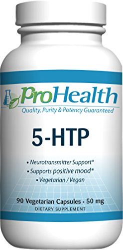 L-tryptophan Capsules Mg 50 Hydroxy - ProHealth 5-HTP (5-Hydroxy L-Tryptophan) (50 mg, 90 Vegetarian Capsules)