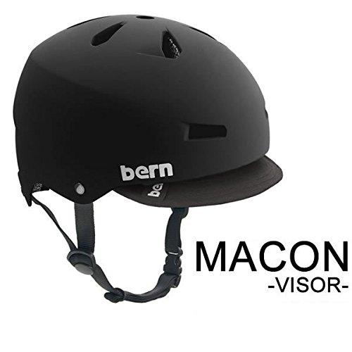 独特の上品 bern(バーン) bern bern(バーン) バーン ヘルメット Visor MACON バイザー オールシーズンモデル Matte Black XL(59-60.5cm) Visor B00BEQ73L8 XL(59-60.5cm), 野田川町:3e4c7e33 --- a0267596.xsph.ru