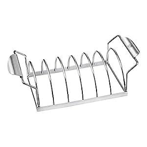 ECBuddy barbacoa Premium barbacoa Spare Rib Rack, Capacidad para 6porciones–funciona en eléctrica (buque de nosotros)