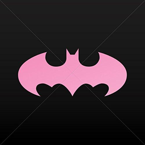 Dark Knight Bat Attack (Decal Batman Decor Room Durable Decoration Waterproof Racing Pink (5 X 2.2 Inches))