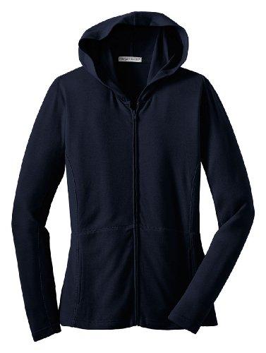 Port Authority Ladies Stretch Cotton Full Zip Jacket-4XL (True Navy)