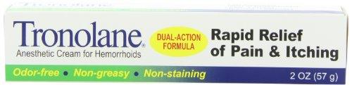 Tronolane crème anesthésiante pour les hémorroïdes, Dual-Action formule, deux once