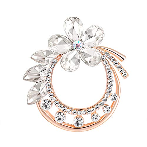 Topgee Silk Scarf Buckle Pin Dual-use Environmentally Friendly Alloy Floral Banquet Essential Jewelry Brooch for Women Lady