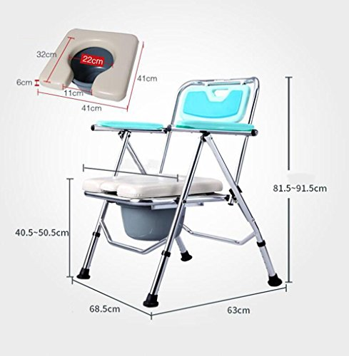 Mxxyy Folding Commode Comfort Chair With Padded Toilet