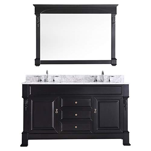 Brass Walnut Vanity - Virtu USA GD-4060-WMSQ-DW Huntshire 60