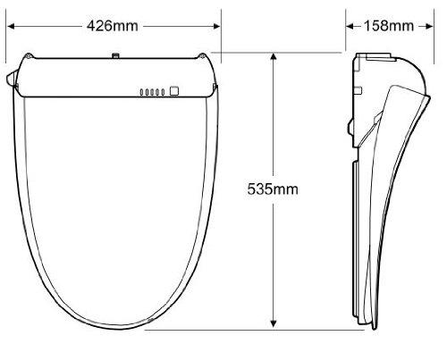 SAMSUNG NB 755, Klobrille, japanische Toilette: Amazon.de: Küche ...