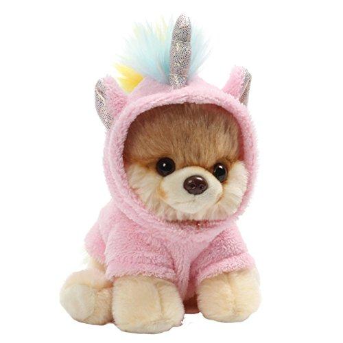 """GUND World's Cutest Dog Boo Itty Bitty Boo #044 Unicorn Stuffed Animal Plush, 5"""""""