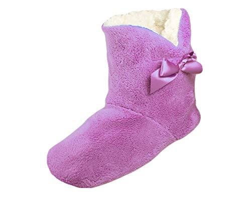 Purple Dames Confortable Doux Chaussons Toesters Luxe Et Pariella Slipper Bottes Filles v0dgwqg
