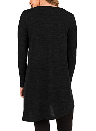 4fefe1c6315 Long Shirts to Wear with Leggings Ladies Side Button Tops Long Sleeve Tunic  (XXL
