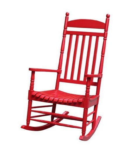International Concepts R-54210 Porch Rocker - Turned Post - Solid Wood - Red ()