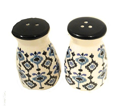 Mainstays Decorative Blue and White Patterned Salt and Pepper Shakers, Ceramic