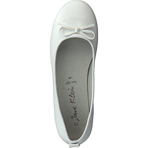 Jane Klain Damen Schuhe Ballerinas 221-071 in Weiß mit Schleife