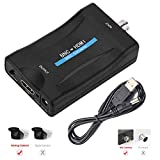 BNC to HDMI Converter - Female BNC Video Component Adapter Analog CVBS Input HDMI Composite Connector Box Hook up for HD TV Monitor Security Camera CCTV VCR DVRs with 720 1080P Output HDCP Deep Color