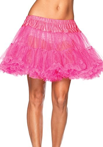 [UTOVME Womens 4-Layered Petticoat Underskirt Tulle Tutu Skirt Ballet Bubble Skirt, for Dance Party Stage Costume Show COSPLAY, Hot Pink] (Hot Pink Party Skirt Costumes Petticoat)