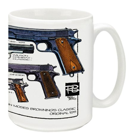 Cuppa Second Amendment Rights 15-Ounce Coffee Mug with 1911's