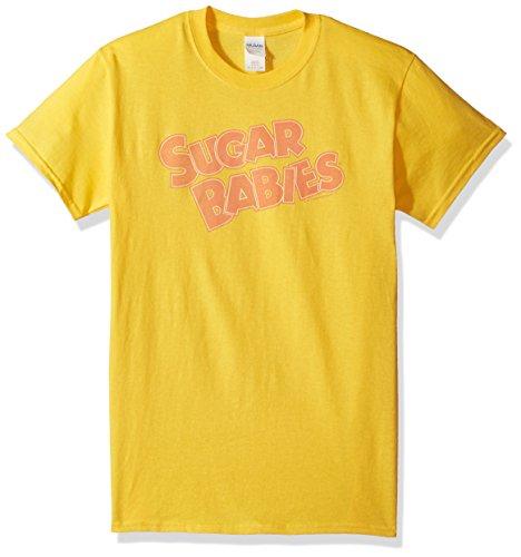 Trevco Men's Tootsie Roll Short Sleeve T-Shirt, Yellow, Small -