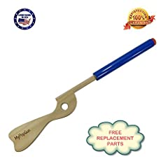 Classic Hand Made Patriotic BluePop Gun . Made of Wood and has a Durable Plastic Barrel. Equipped with a non-destructive Silicone Stopper that will not shoot as a projectile. Your child won't have to chase after anything and you won't have t...