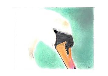 Cabeza de un cisne cara de Pastel tizas para tacos de billar de dibujo + soporte: Amazon.es: Hogar