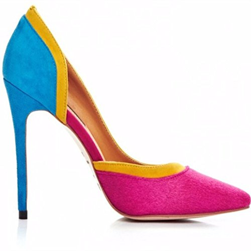 Pointed Toe Beautiful Heeled Pumps 34 Prom Shoes 45 Size Stylish High VIVIOO 11 Cm 11 Sandals Shoes Multi txvwP