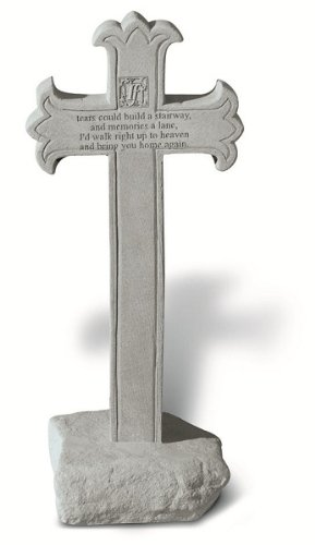 If Tears Could Build A Stairway... Ornate Cross Memorial Stone by Kay Berry Inc (Image #1)