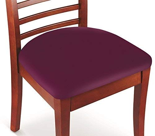 Hoovy Seat Covers Pack of 2 Protective & Stretchable – for Round & Square Chairs (Burgundy)
