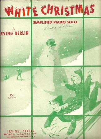 White Christmas: Simplified Piano Solo