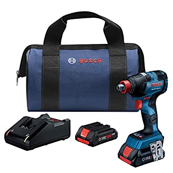 Image of Bosch GDX18V-1800CB25 18V EC Brushless Connected Freak 1/4 In. and 1/2 In. Two-In-One Bit/Socket Impact Driver Kit with (2) CORE18V 4.0 Ah Compact Batteries Home Improvements