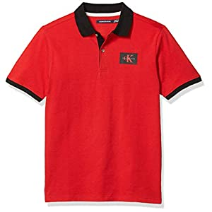 Best Epic Trends 4122wZKkpsL._SS300_ Calvin Klein Boys' Short Sleeve Solid Polo_Obsolete, SP18 Light Gray Heather, Large (14/16)