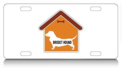 Makoroni - BASSED HOUND House Design, Aluminum License Plate, Auto SUV Truck Tag - Hound House