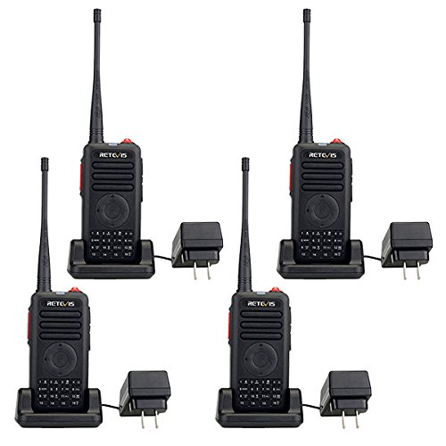 Retevis-RT25-2-Way-Radio-UHF-400-470MHz-5W-16-Channel-Quick-Charge-VOX-Dual-PTT-1750Hz-Encrypted-Walkie-Talkies-4-pack