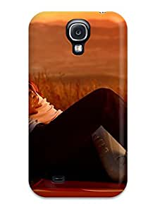 Anne C. Flores's Shop 2015 6695690K28917421 Premium Case With Scratch-resistant/ Love Romance People Sunset Couple Case Cover For Galaxy S4