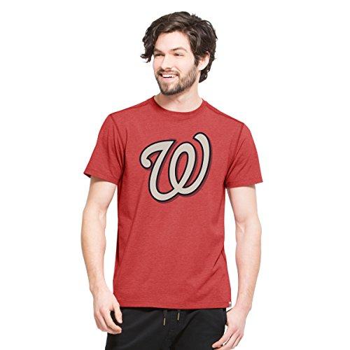 MLB Washington Nationals Men's '47 High Point Tee, Medium, Shift (Washington Nationals Classic Shirt)