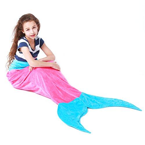 Echolife Mermaid Tail Blanket Super Soft Fleece Sleeping Bags Flannel Mermaid Blanket Tail Great Gifts for Kids Girls 3-12 Year Olds (Pink) Christmas Gift Ideas 5 Year Old Girl